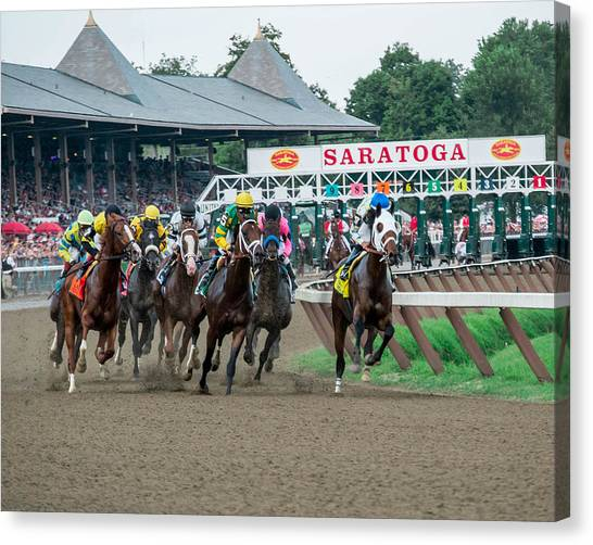 Thoroughbreds Canvas Print - Jim Dandy Stakes by William Stephen