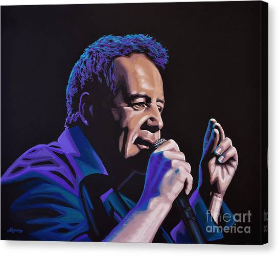 Post-modern Art Canvas Print - Jim Kerr Of The Simple Minds Painting by Paul Meijering