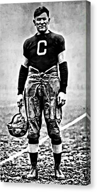 Running Backs Canvas Print - Jim Thorpe by Florian Rodarte