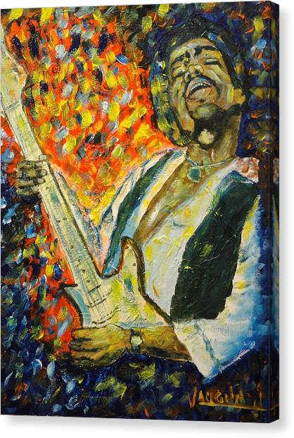 Jimi Canvas Print by Charles Vaughn
