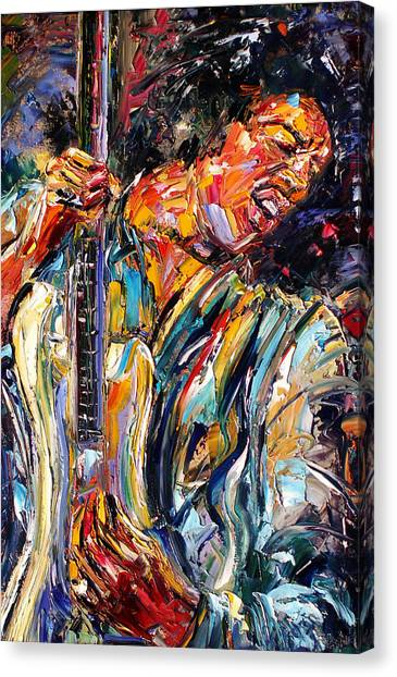 Jimi Canvas Print by Debra Hurd