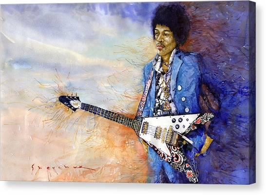 Jimi Hendrix Canvas Print - Jimi Hendrix 10 by Yuriy Shevchuk