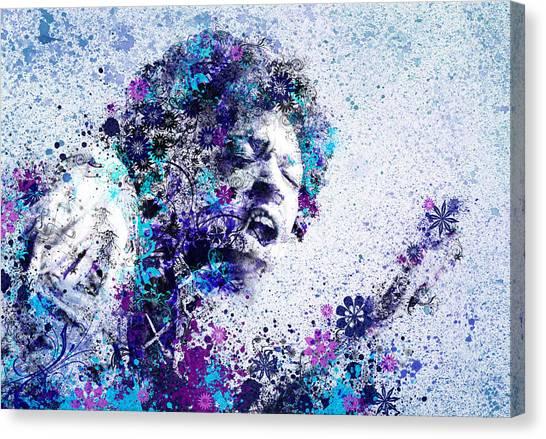 Jimi Hendrix Canvas Print - Jimi Hendrix 2 by Bekim Art
