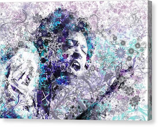 Jimi Hendrix Canvas Print - Jimi Hendrix 3 by Bekim Art