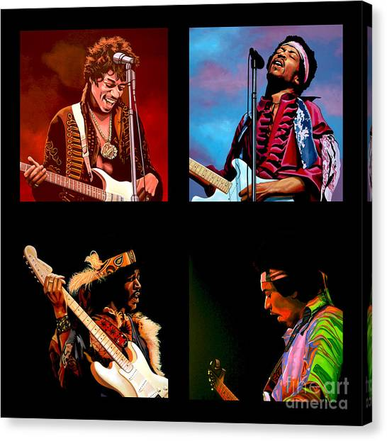 Flames Canvas Print - Jimi Hendrix Collection by Paul Meijering