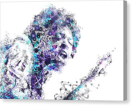 Jimi Hendrix Canvas Print - Jimi Hendrix by Bekim Art