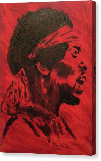 Jimi Canvas Print by Mark Greenhalgh