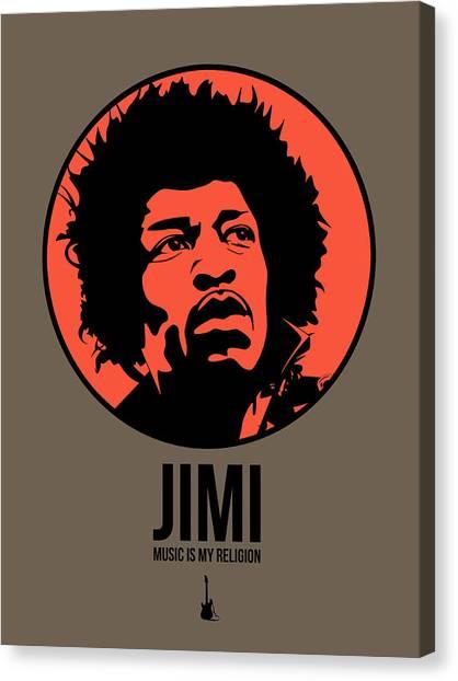 Jimi Hendrix Canvas Print - Jimi Poster 1 by Naxart Studio