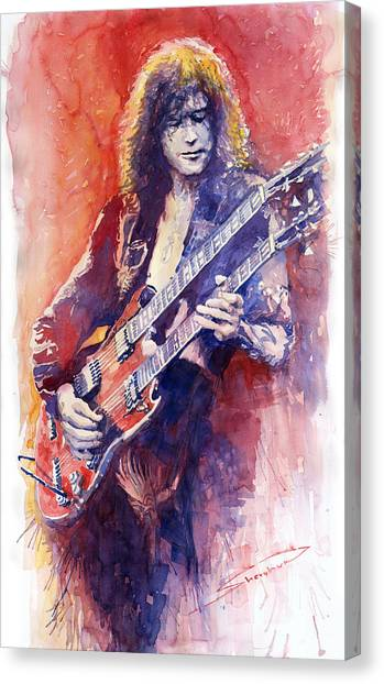 Papers Canvas Print - Jimmi Page by Yuriy Shevchuk