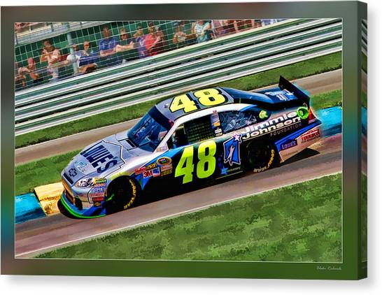 Jimmie Johnson Canvas Print