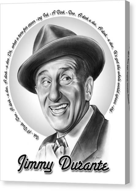 Jimmy Durante Canvas Print