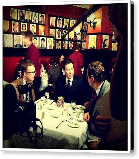 Restaurants Canvas Print - Jimmy Fallon, Steve Higgins & A.d. Miles by Natasha Marco