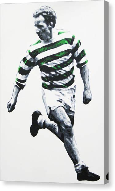 Jimmy Johnstone - Celtic Fc Canvas Print