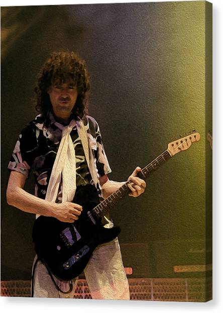 Led Zepplin Canvas Print - Jimmy Page - The Firm by Michael  Wolf