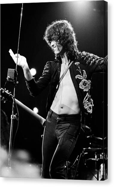 Jimmy Page Canvas Print - Jimmy Page 1973 by Chris Walter