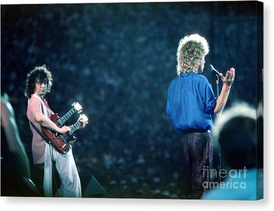 Jimmy Page And Robert Plant Canvas Print