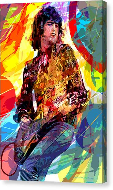 Led Zepplin Canvas Print - Jimmy Page Leds Lead by David Lloyd Glover