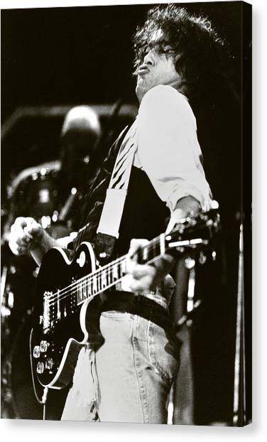 Jimmy Page Canvas Print - Jimmy Page/ The Firm by Chris Deutsch