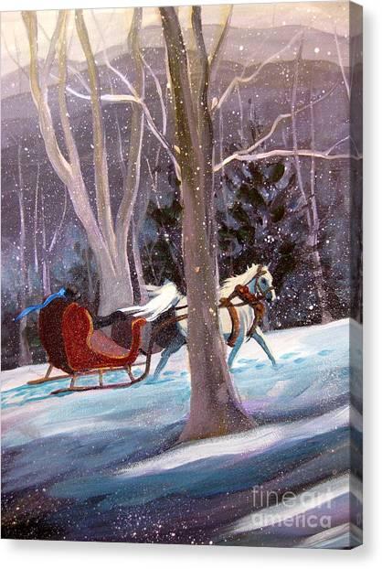 Jingle Bells A Canvas Print
