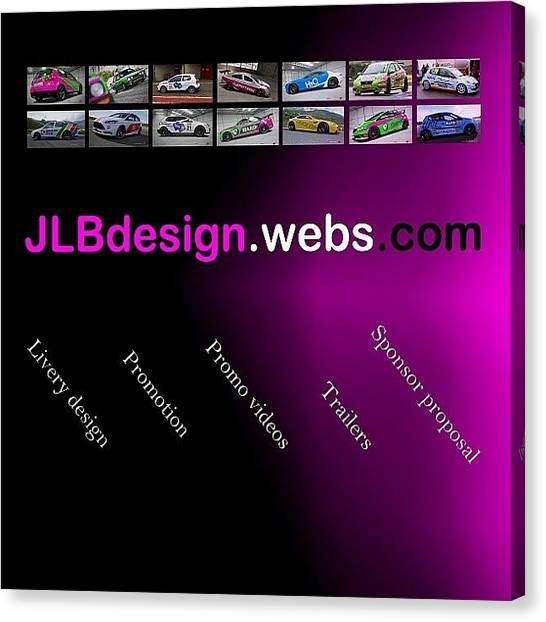 Race Cars Canvas Print - #jlbdesign #webs #teamhard #design by John Lowery-brady