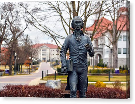 James Madison University Jmu Canvas Print - JMU by Mitch Cat