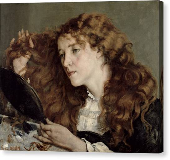 Redhead Canvas Print - Jo The Beautiful Irish Girl by Gustave Courbet