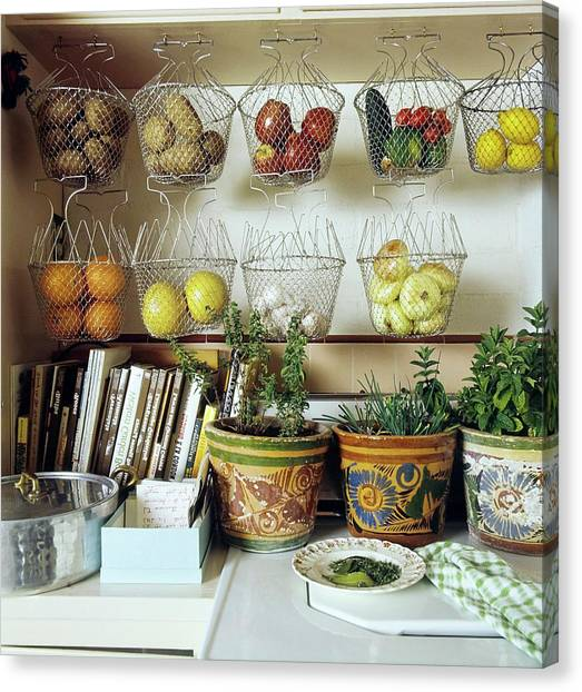 Joan Didion's Kitchen Canvas Print