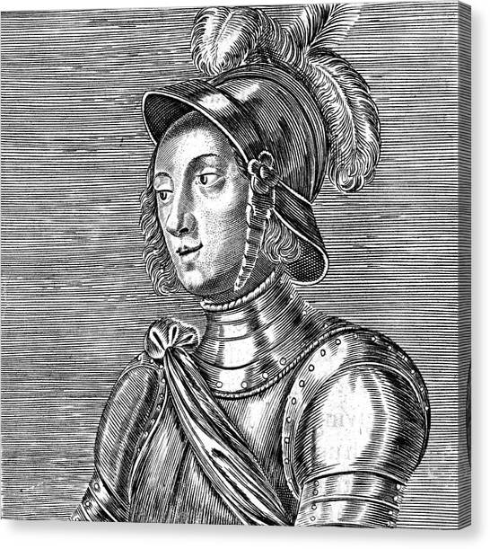 Joan Of Arc  French Heroine Canvas Print by Mary Evans Picture Library