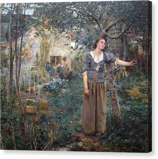 Canvas Print featuring the painting Joan Of Arc by Jules Bastien-Lepage