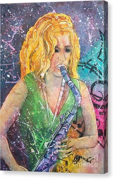 Jodi On Sax Canvas Print