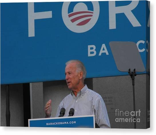 Joe Biden Canvas Print - Joe Biden by Lisa Gifford