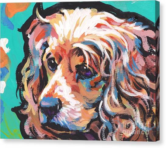 Cocker Spaniels Canvas Print - Joe Cocker by Lea S