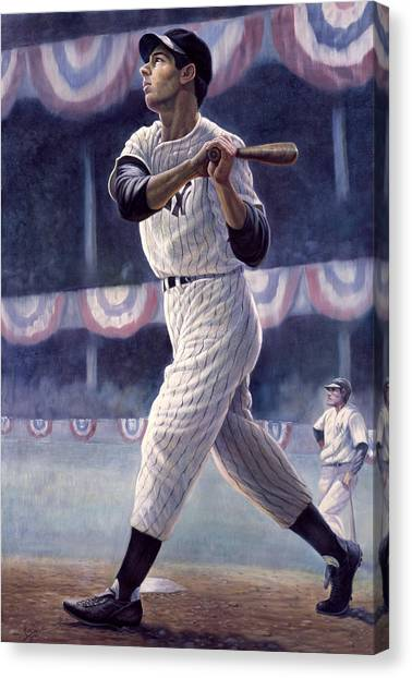 Babe Ruth Canvas Print - Joe Dimaggio by Gregory Perillo
