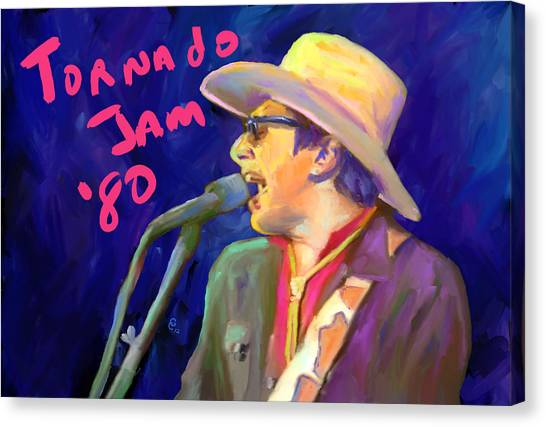 Joe Ely Canvas Print by G Cannon