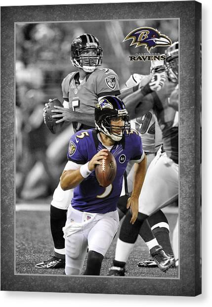 Baltimore Ravens Canvas Print - Joe Flacco Ravens by Joe Hamilton
