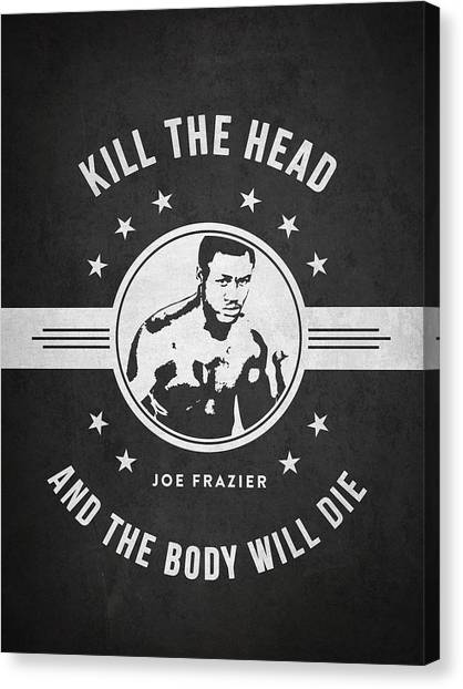 Joe Frazier Canvas Print - Joe Frazier - Dark by Aged Pixel