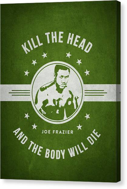 Joe Frazier Canvas Print - Joe Frazier - Green by Aged Pixel