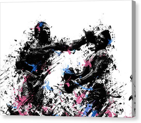Knockout Canvas Print - Joe Frazier by Bekim Art