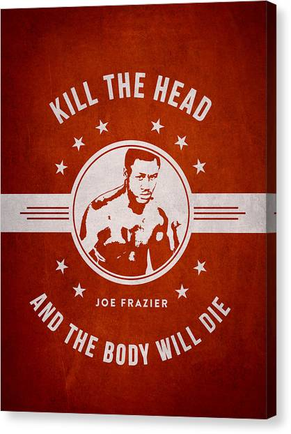 Joe Frazier Canvas Print - Joe Frazier - Red by Aged Pixel