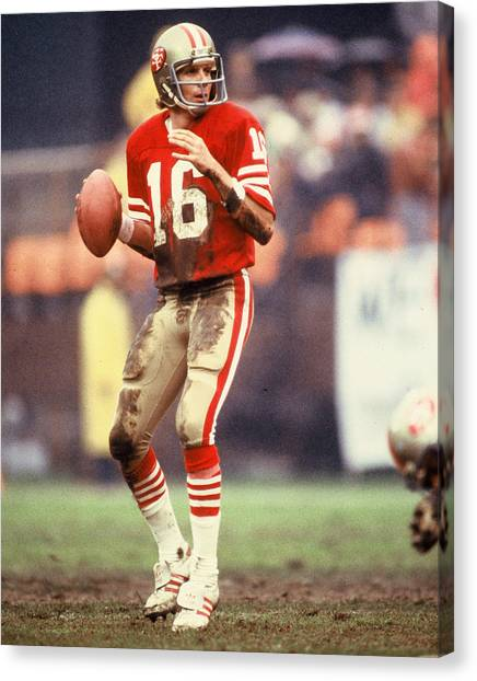 Football Canvas Print - Joe Montana by Retro Images Archive