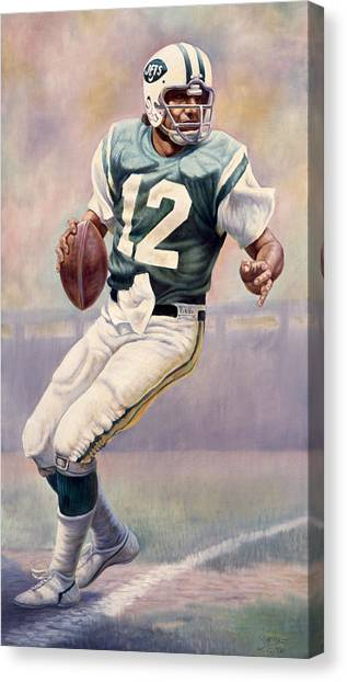 New York Jets Canvas Print - Joe Namath by Gregory Perillo