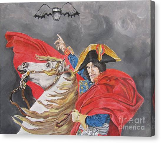 Joe Perry On Horse Canvas Print by Jeepee Aero