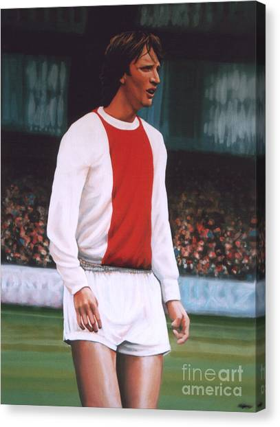 Fifa Canvas Print - Johan Cruijff  by Paul Meijering