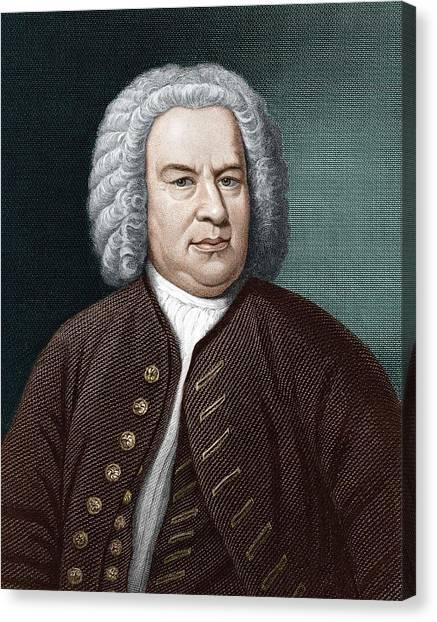 Harpsichords Canvas Print - Johann Sebastian Bach (1685-1750) by Science Photo Library