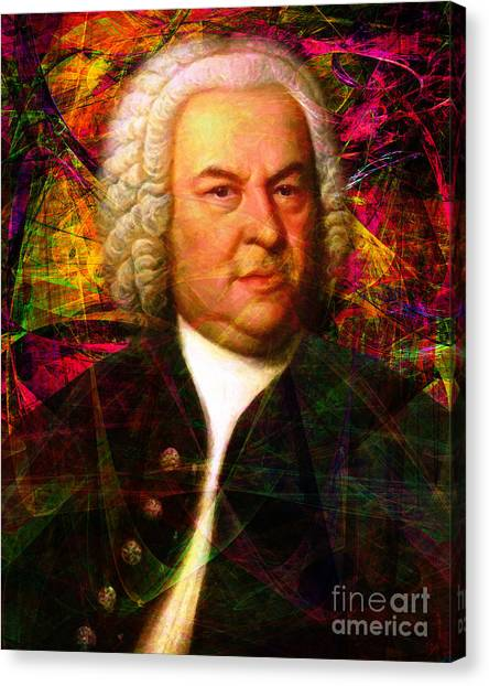 Harpsichords Canvas Print - Johann Sebastian Bach 20140126v1 by Wingsdomain Art and Photography