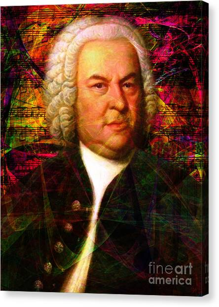 Harpsichords Canvas Print - Johann Sebastian Bach 20140126v2 by Wingsdomain Art and Photography