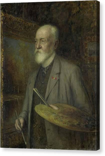 Johannes Gijsbert Vogel 1828-1915 Canvas Print by Litz Collection