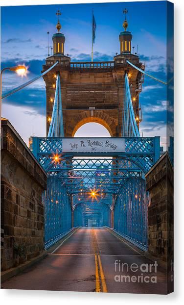 John A. Roebling Suspension Bridge Canvas Print