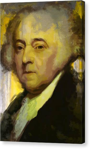 Democratic Presidents Canvas Print - John Adams by Corporate Art Task Force