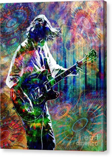 Southern Rock Canvas Print - John Bell - Widespread Panic by Ryan Rock Artist